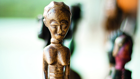 Detail from African Tribal art collection