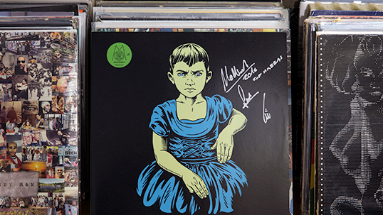 Album III by Moderat, the electronic music band, autographed for Abbas