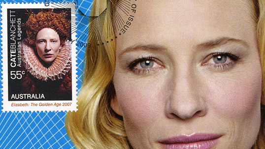 Cate Blanchett - Stamp & Envelope collection