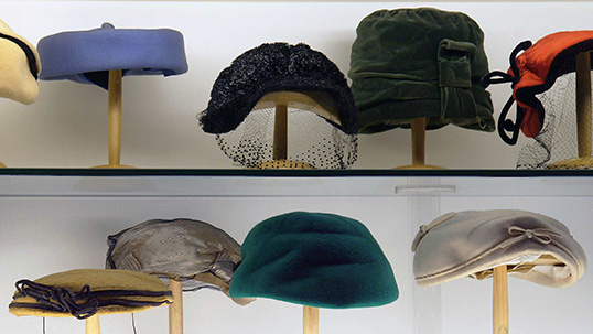 Hats used in the 1940s and 1950s